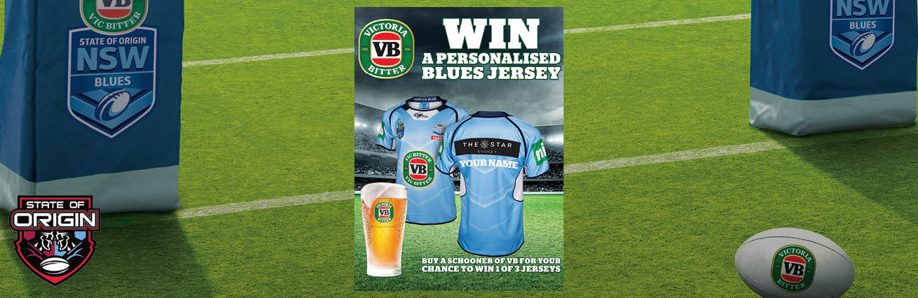win a personalised blues jersey