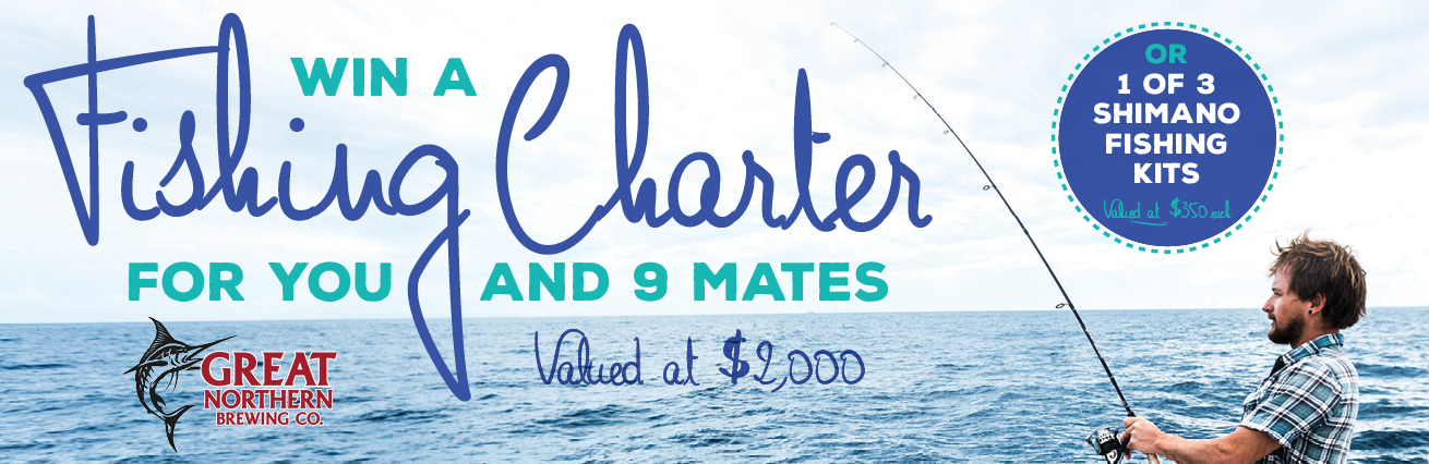 WIN A FISHING CHARTER FOR YOU AND NINE MATES