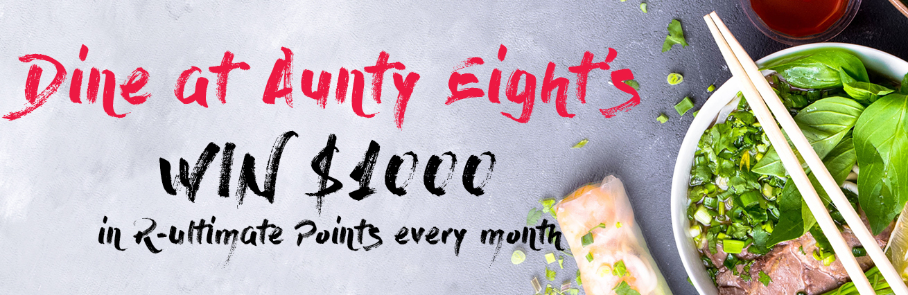 Dine At Aunty Eight's For Your Chance To WIN