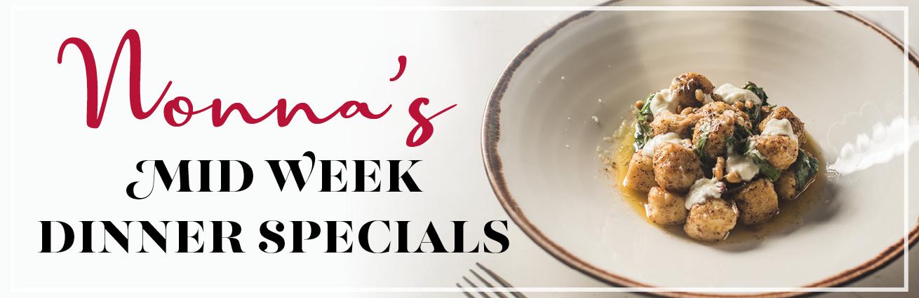 Bel Cibo Nona's Mid Week Specials